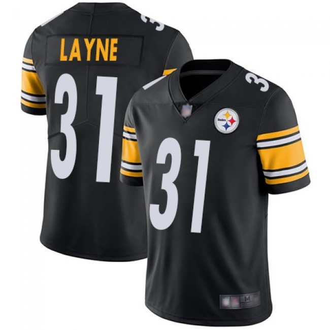 Nike Steelers #31 Justin Layne Black Team Color Men's Stitched NFL Vapor Untouchable Limited Jersey