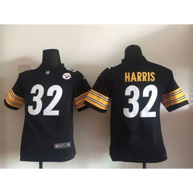Pittsburgh Steelers #32 Franco Harris Black Team Color Youth Stitched NFL Elite Jersey