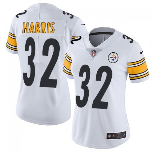 Women's Steelers #32 Franco Harris White Stitched NFL Vapor Untouchable Limited Jersey