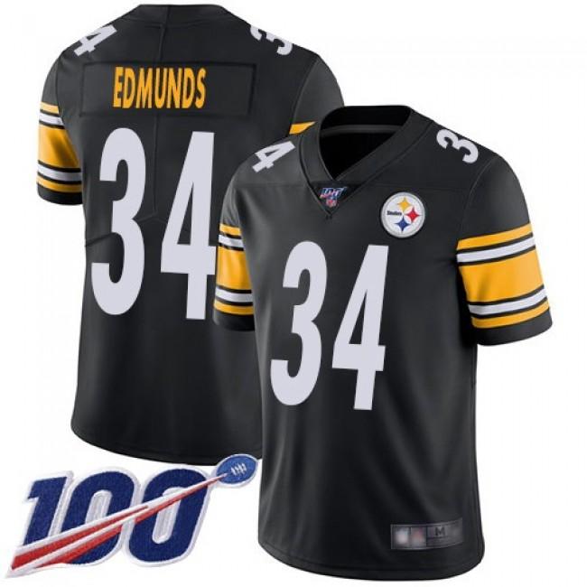 Nike Steelers #34 Terrell Edmunds Black Team Color Men's Stitched NFL 100th Season Vapor Limited Jersey
