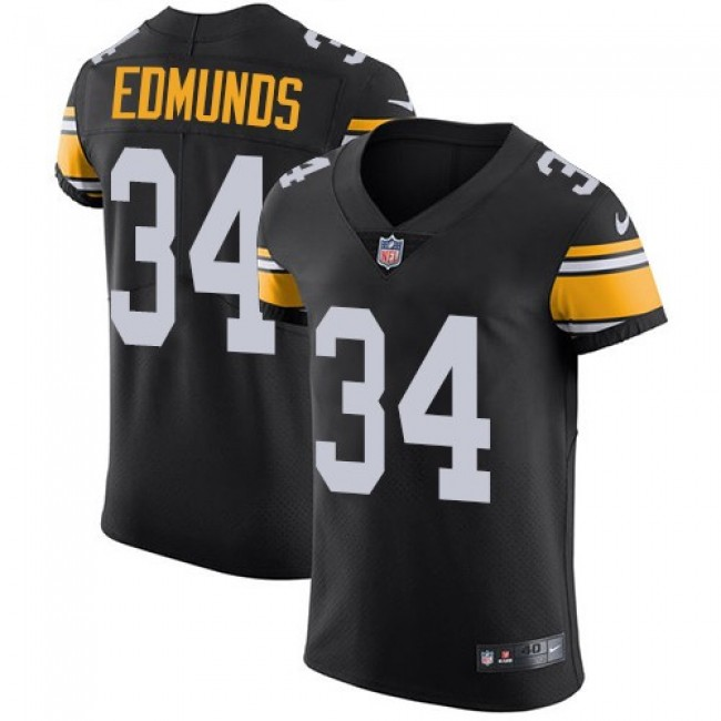 Nike Steelers #34 Terrell Edmunds Black Team Color Men's Stitched NFL Vapor Untouchable Elite Jersey