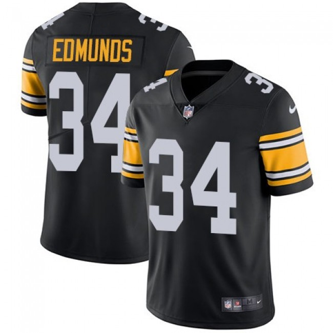 Nike Steelers #34 Terrell Edmunds Black Team Color Men's Stitched NFL Vapor Untouchable Limited Jersey