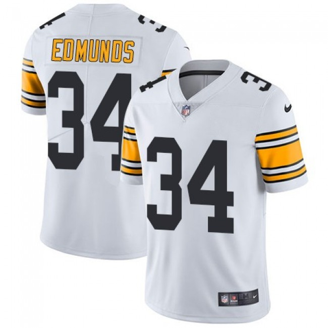 Nike Steelers #34 Terrell Edmunds White Men's Stitched NFL Vapor Untouchable Limited Jersey