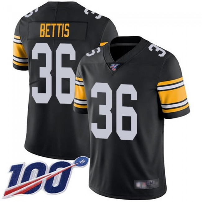 Nike Steelers #36 Jerome Bettis Black Alternate Men's Stitched NFL 100th Season Vapor Limited Jersey