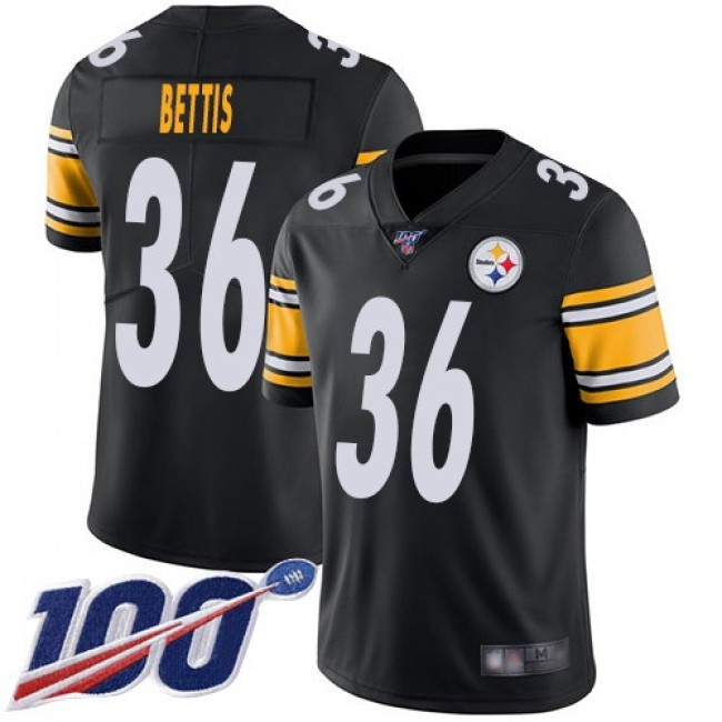 Nike Steelers #36 Jerome Bettis Black Team Color Men's Stitched NFL 100th Season Vapor Limited Jersey