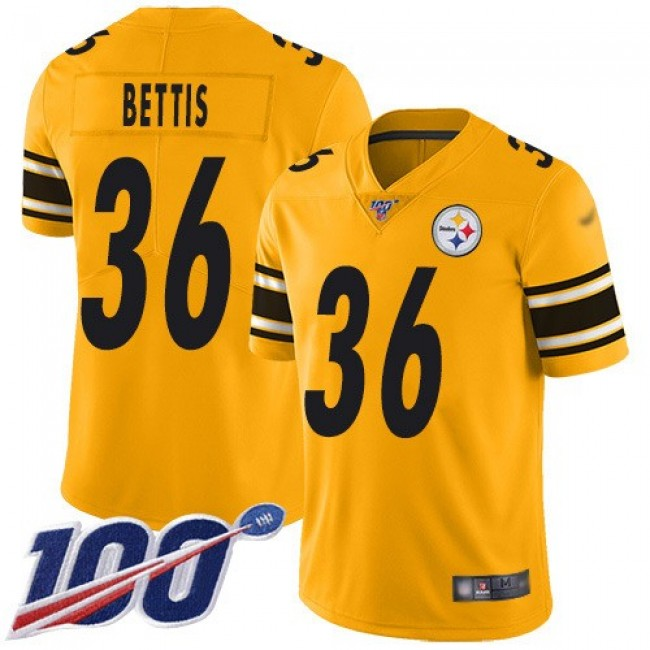 Nike Steelers #36 Jerome Bettis Gold Men's Stitched NFL Limited Inverted Legend 100th Season Jersey