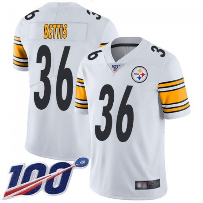 Nike Steelers #36 Jerome Bettis White Men's Stitched NFL 100th Season Vapor Limited Jersey