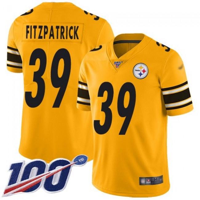 Nike Steelers #39 Minkah Fitzpatrick Gold Men's Stitched NFL Limited Inverted Legend 100th Season Jersey