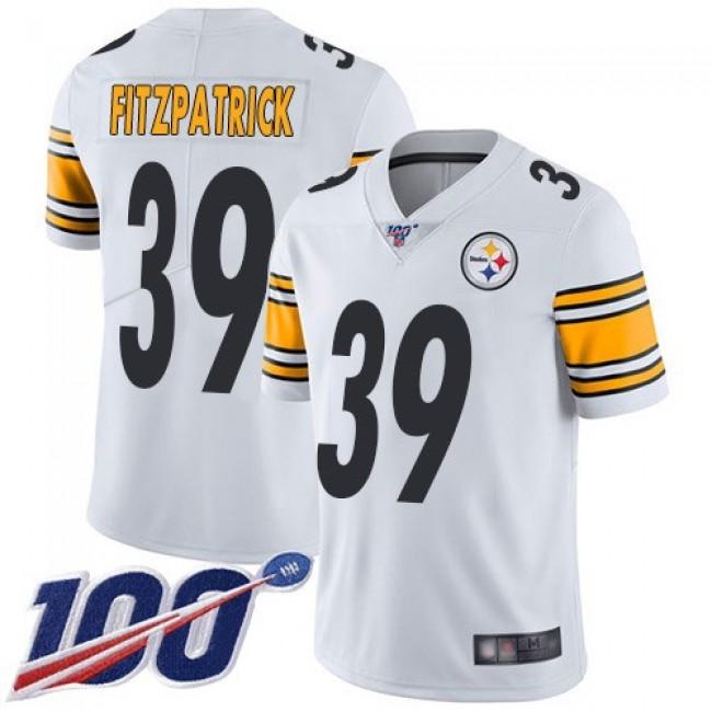 Nike Steelers #39 Minkah Fitzpatrick White Men's Stitched NFL 100th Season Vapor Limited Jersey