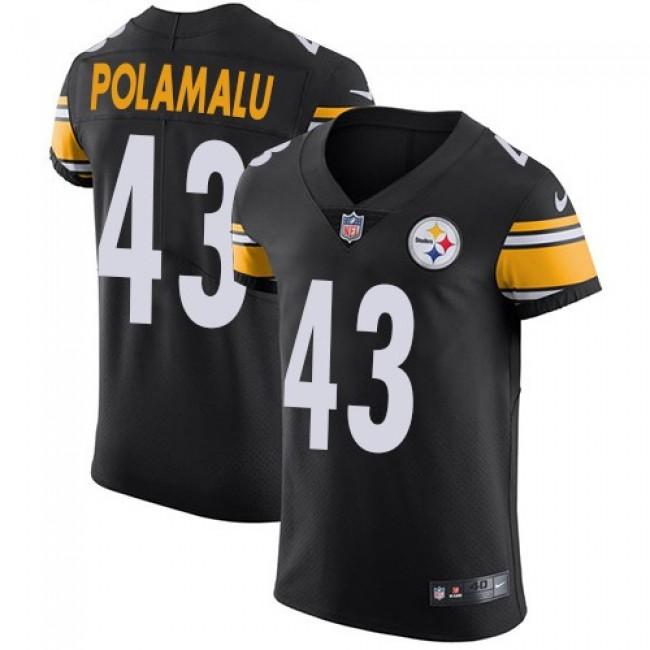 Nike Steelers #43 Troy Polamalu Black Team Color Men's Stitched NFL Vapor Untouchable Elite Jersey