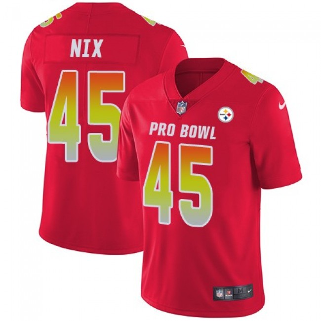 Pittsburgh Steelers #45 Roosevelt Nix Red Youth Stitched NFL Limited AFC 2018 Pro Bowl Jersey