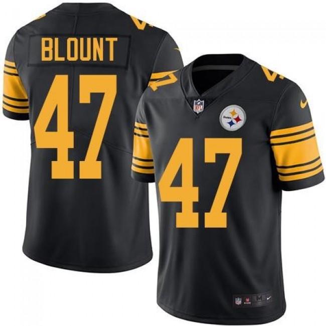Nike Steelers #47 Mel Blount Black Men's Stitched NFL Limited Rush Jersey