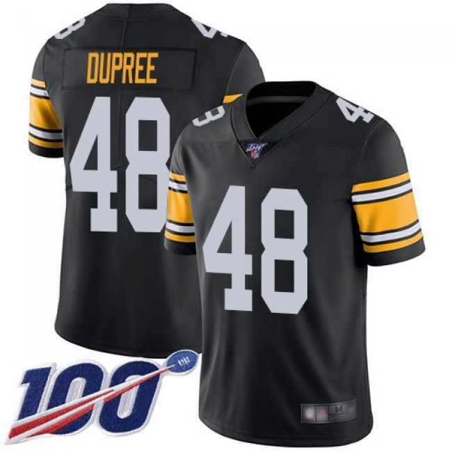 Nike Steelers #48 Bud Dupree Black Alternate Men's Stitched NFL 100th Season Vapor Limited Jersey