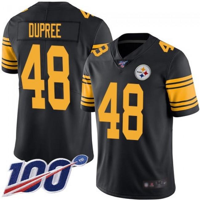 Nike Steelers #48 Bud Dupree Black Men's Stitched NFL Limited Rush 100th Season Jersey