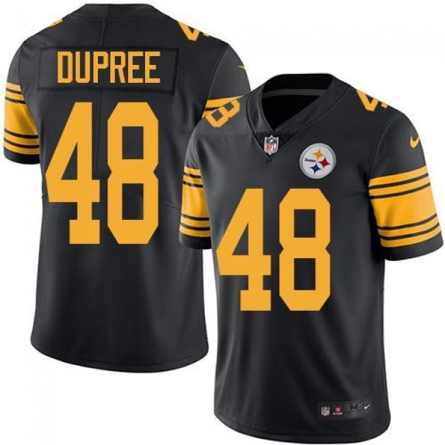 Nike Steelers #48 Bud Dupree Black Men's Stitched NFL Limited Rush Jersey