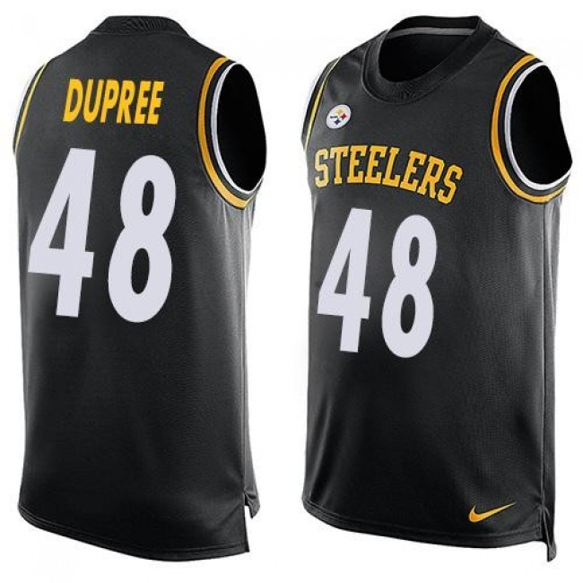 Nike Steelers #48 Bud Dupree Black Team Color Men's Stitched NFL Limited Tank Top Jersey
