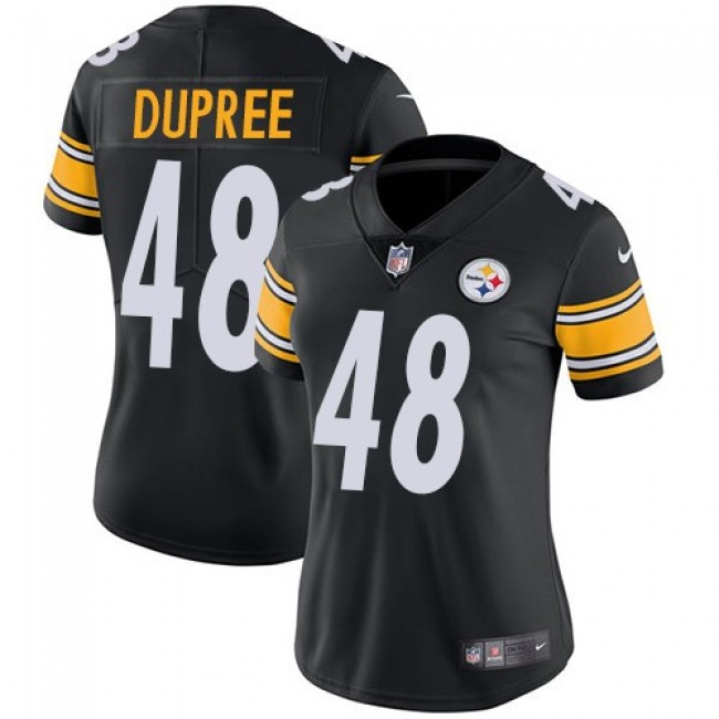 Women's Steelers #48 Bud Dupree Black Team Color Stitched NFL Vapor Untouchable Limited Jersey