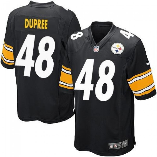 Pittsburgh Steelers #48 Bud Dupree Black Team Color Youth Stitched NFL Elite Jersey