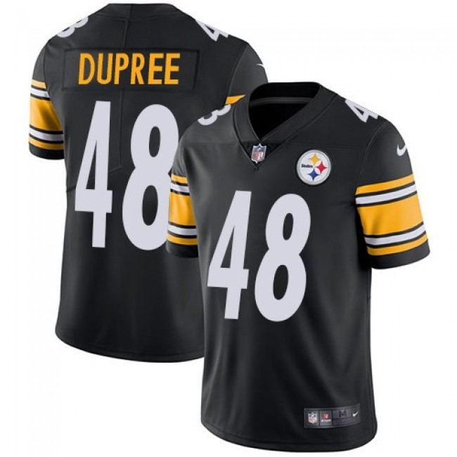 Pittsburgh Steelers #48 Bud Dupree Black Team Color Youth Stitched NFL Vapor Untouchable Limited Jersey