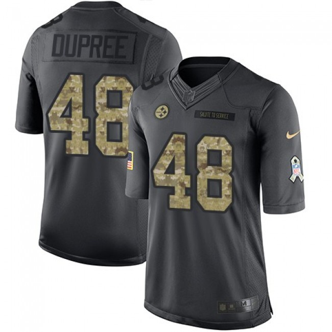 Pittsburgh Steelers #48 Bud Dupree Black Youth Stitched NFL Limited 2016 Salute to Service Jersey