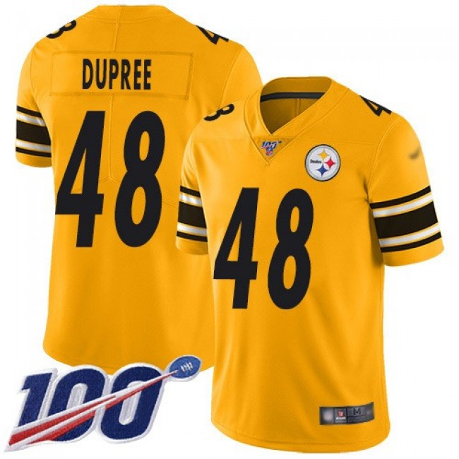 Nike Steelers #48 Bud Dupree Gold Men's Stitched NFL Limited Inverted Legend 100th Season Jersey