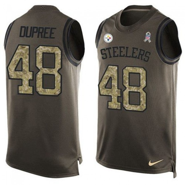 Nike Steelers #48 Bud Dupree Green Men's Stitched NFL Limited Salute To Service Tank Top Jersey
