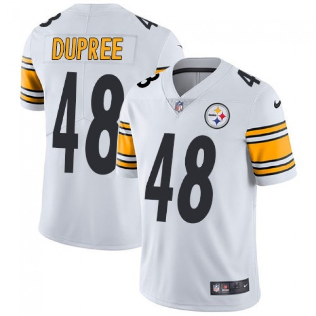 Nike Steelers #48 Bud Dupree White Men's Stitched NFL Vapor Untouchable Limited Jersey