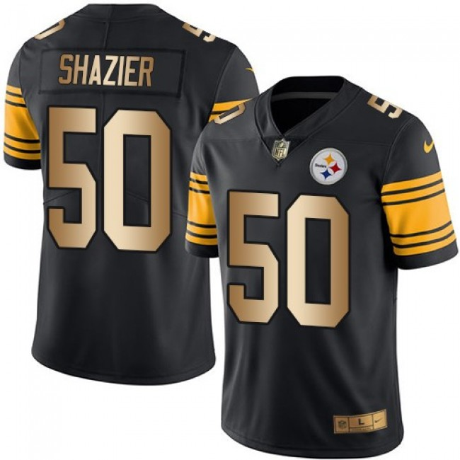 Nike Steelers #50 Ryan Shazier Black Men's Stitched NFL Limited Gold Rush Jersey