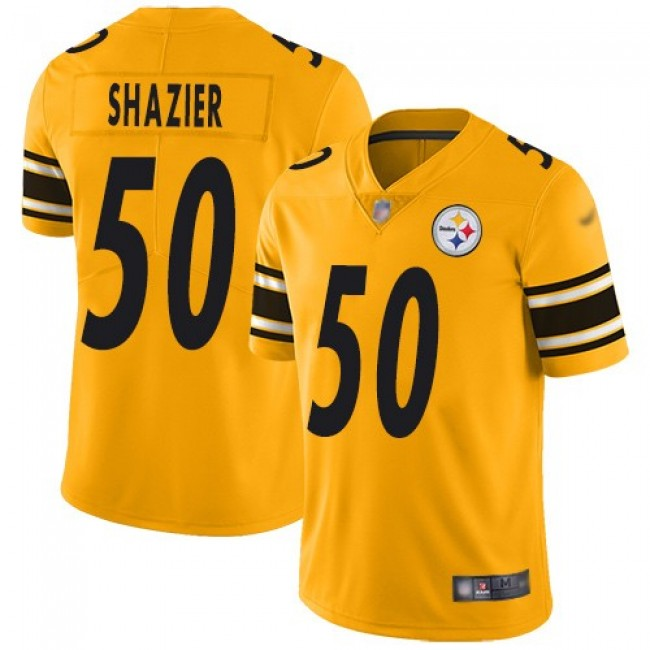 Nike Steelers #50 Ryan Shazier Gold Men's Stitched NFL Limited Inverted Legend Jersey