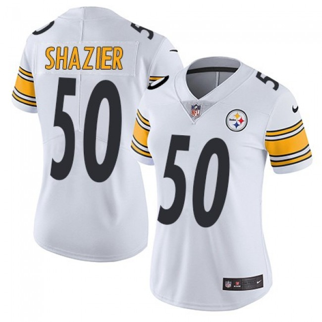 Women's Steelers #50 Ryan Shazier White Stitched NFL Vapor Untouchable Limited Jersey