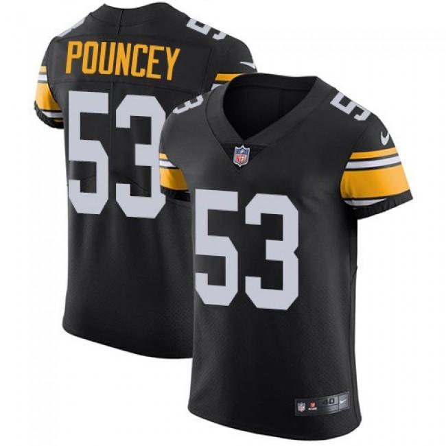Nike Steelers #53 Maurkice Pouncey Black Alternate Men's Stitched NFL Vapor Untouchable Elite Jersey