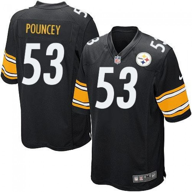 Pittsburgh Steelers #53 Maurkice Pouncey Black Team Color Youth Stitched NFL Elite Jersey
