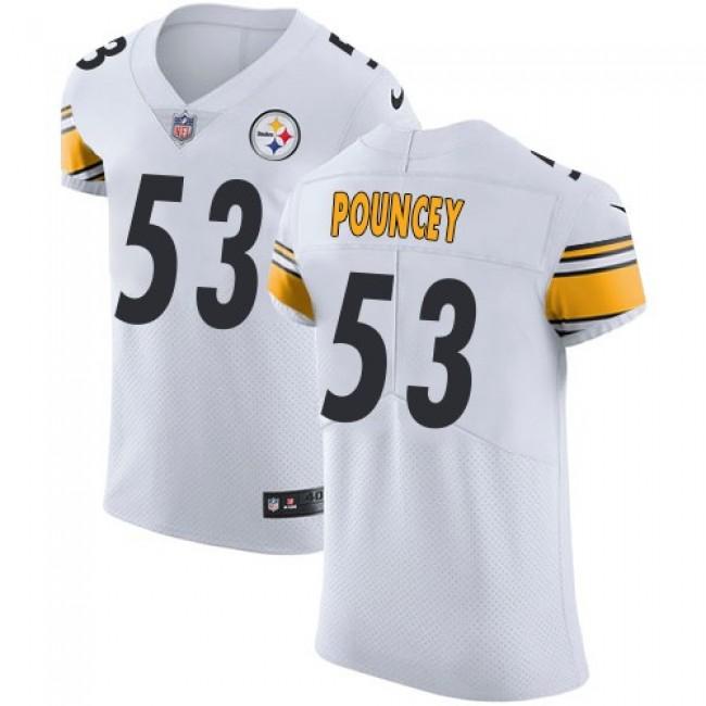 Nike Steelers #53 Maurkice Pouncey White Men's Stitched NFL Vapor Untouchable Elite Jersey