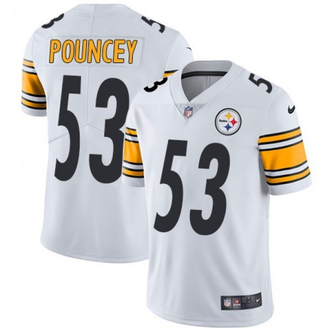 Nike Steelers #53 Maurkice Pouncey White Men's Stitched NFL Vapor Untouchable Limited Jersey