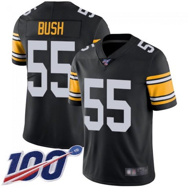 Nike Steelers #55 Devin Bush Black Alternate Men's Stitched NFL 100th Season Vapor Limited Jersey