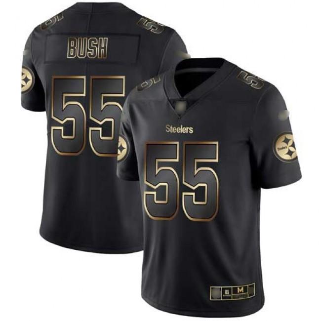 Nike Steelers #55 Devin Bush Black/Gold Men's Stitched NFL Vapor Untouchable Limited Jersey
