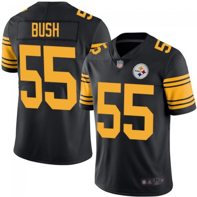Nike Steelers #55 Devin Bush Black Men's Stitched NFL Limited Rush Jersey