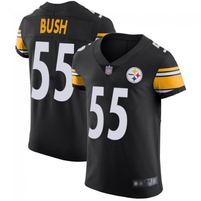 Nike Steelers #55 Devin Bush Black Team Color Men's Stitched NFL Vapor Untouchable Elite Jersey
