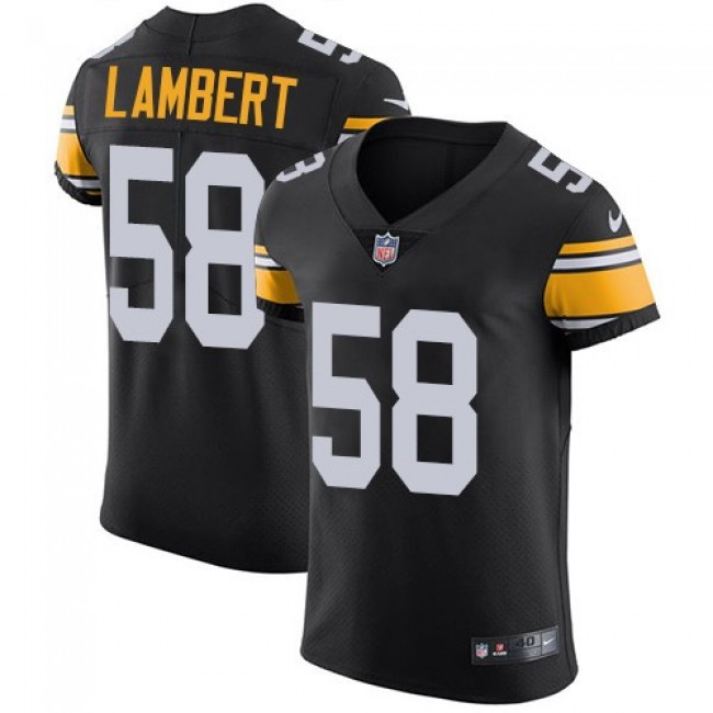 Nike Steelers #58 Jack Lambert Black Alternate Men's Stitched NFL Vapor Untouchable Elite Jersey