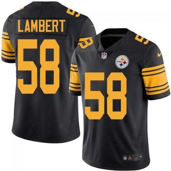 Nike Steelers #58 Jack Lambert Black Men's Stitched NFL Limited Rush Jersey