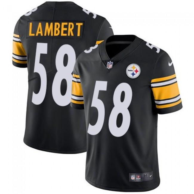 Nike Steelers #58 Jack Lambert Black Team Color Men's Stitched NFL Vapor Untouchable Limited Jersey