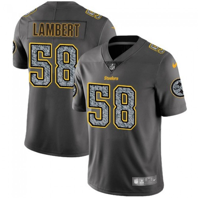 Pittsburgh Steelers #58 Jack Lambert Gray Static Youth Stitched NFL Vapor Untouchable Limited Jersey