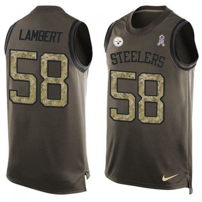 Nike Steelers #58 Jack Lambert Green Men's Stitched NFL Limited Salute To Service Tank Top Jersey
