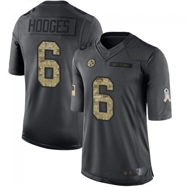 Nike Steelers #6 Devlin Hodges Black Men's Stitched NFL Limited 2016 Salute to Service Jersey
