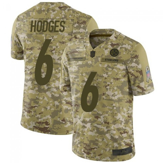 Nike Steelers #6 Devlin Hodges Camo Men's Stitched NFL Limited 2018 Salute To Service Jersey