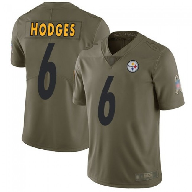 Nike Steelers #6 Devlin Hodges Olive Men's Stitched NFL Limited 2017 Salute To Service Jersey