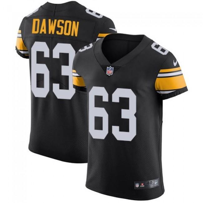 Nike Steelers #63 Dermontti Dawson Black Alternate Men's Stitched NFL Vapor Untouchable Elite Jersey