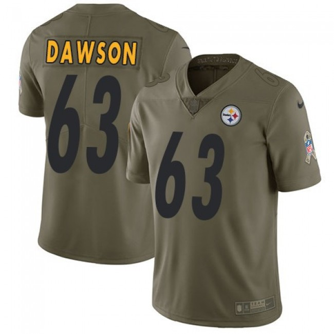 Nike Steelers #63 Dermontti Dawson Olive Men's Stitched NFL Limited 2017 Salute to Service Jersey