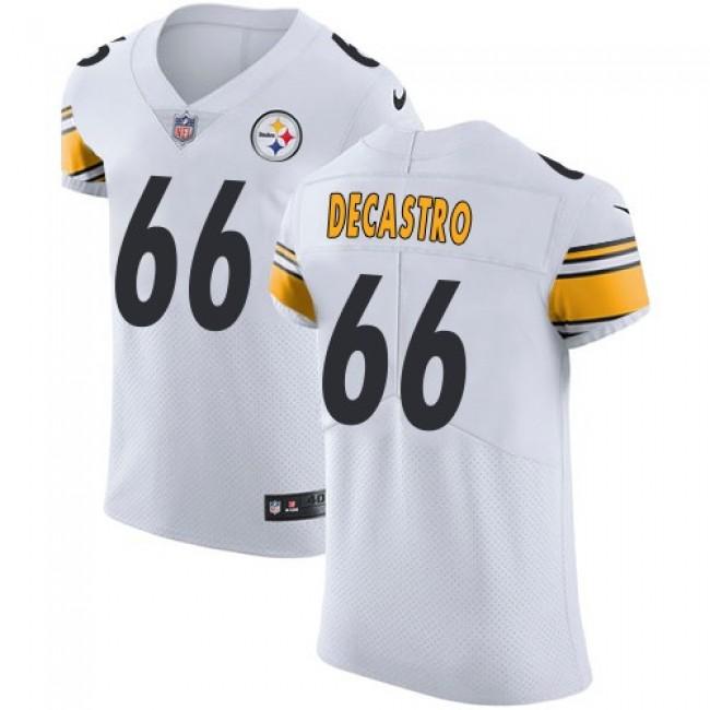 Nike Steelers #66 David DeCastro White Men's Stitched NFL Vapor Untouchable Elite Jersey