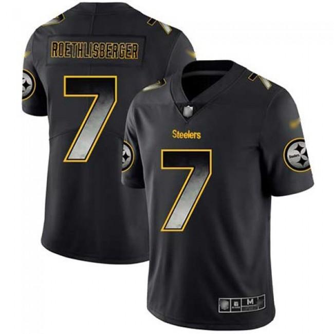 Nike Steelers #7 Ben Roethlisberger Black Men's Stitched NFL Vapor Untouchable Limited Smoke Fashion Jersey